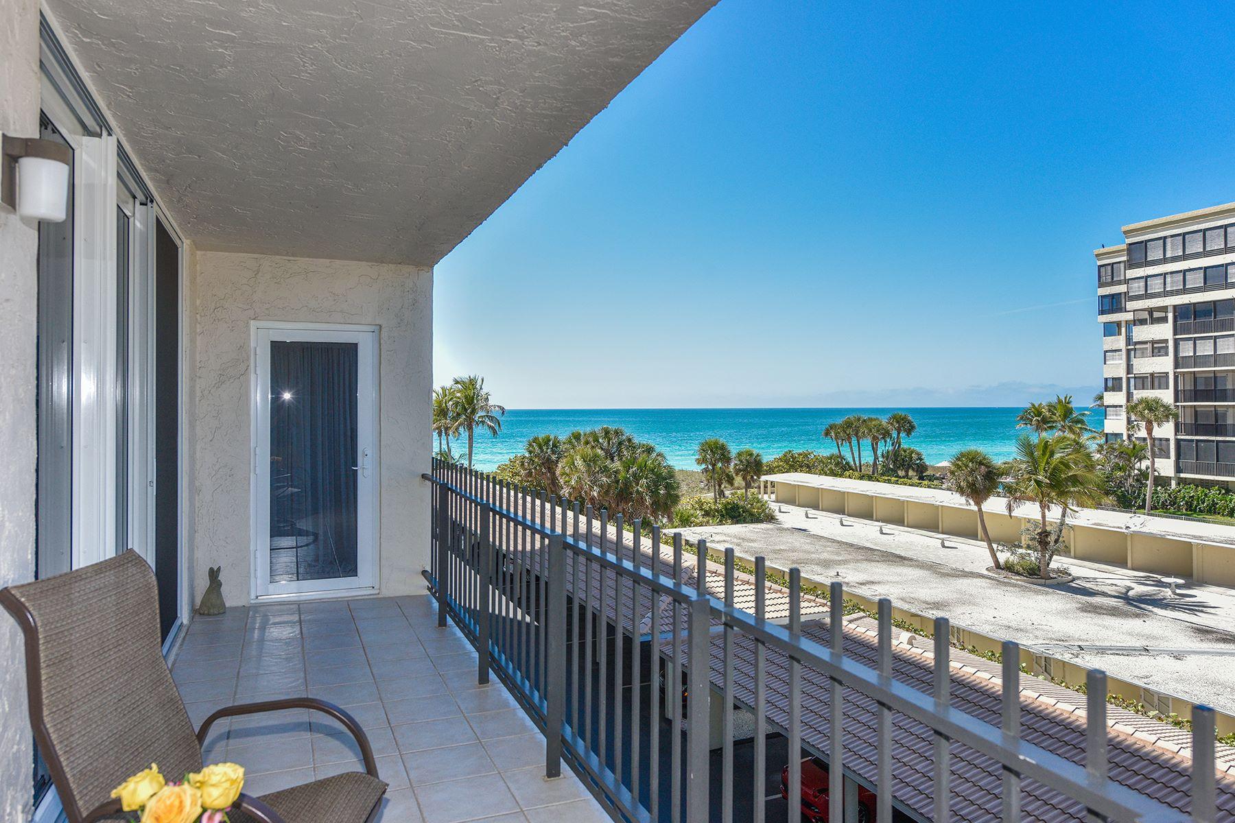 共管式独立产权公寓 为 销售 在 LIDO BEACH 1212 Benjamin Franklin Dr 308 萨拉索塔, 佛罗里达州, 34236 美国