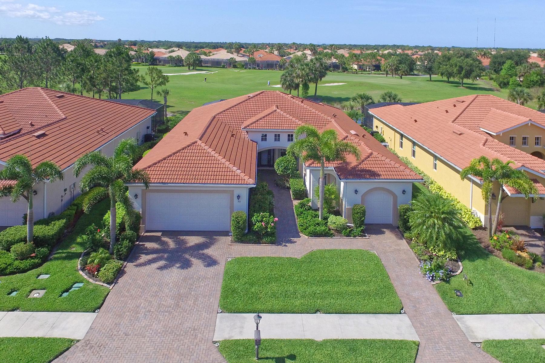 Casa para uma família para Venda às VENETIAN GOLF & RIVER CLUB 301 Martellago Dr North Venice, Florida, 34275 Estados Unidos
