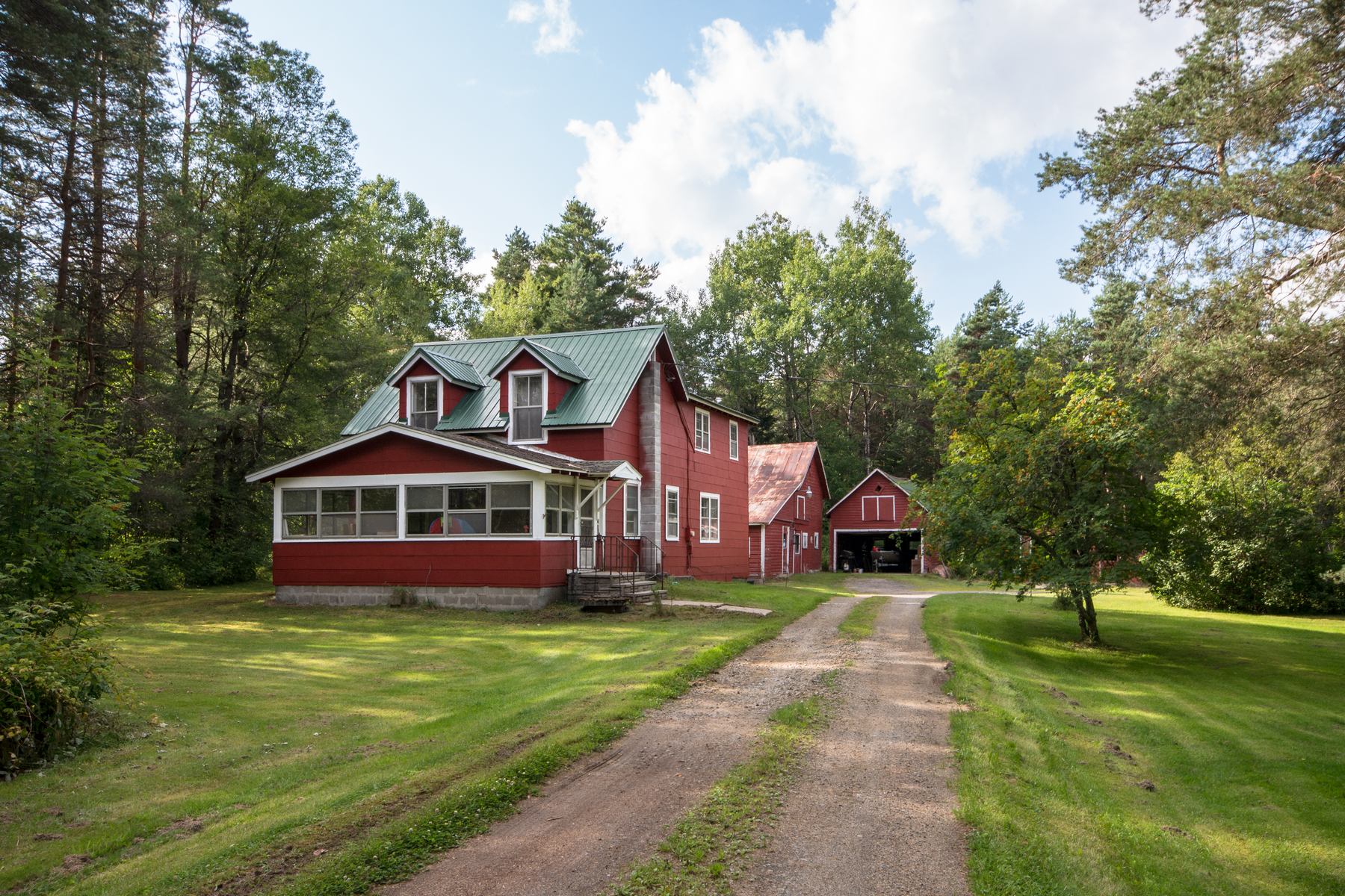 Single Family Home for Sale at Great Farmhouse on 3 Acres 401 State Route 186 Saranac Lake, New York 12983 United States