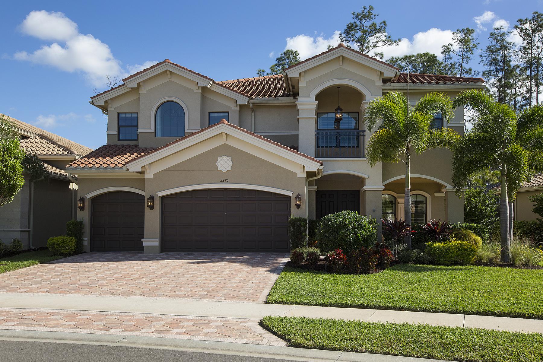 Einfamilienhaus für Verkauf beim RIVERSTONE 3296 Atlantic Cir Naples, Florida, 34119 Vereinigte Staaten