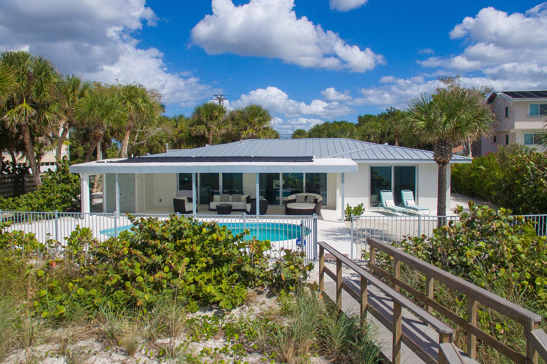 Casa Unifamiliar por un Venta en MANASOTA KEY ISLAND 8040 Manasota Key Rd Englewood, Florida, 34223 Estados Unidos