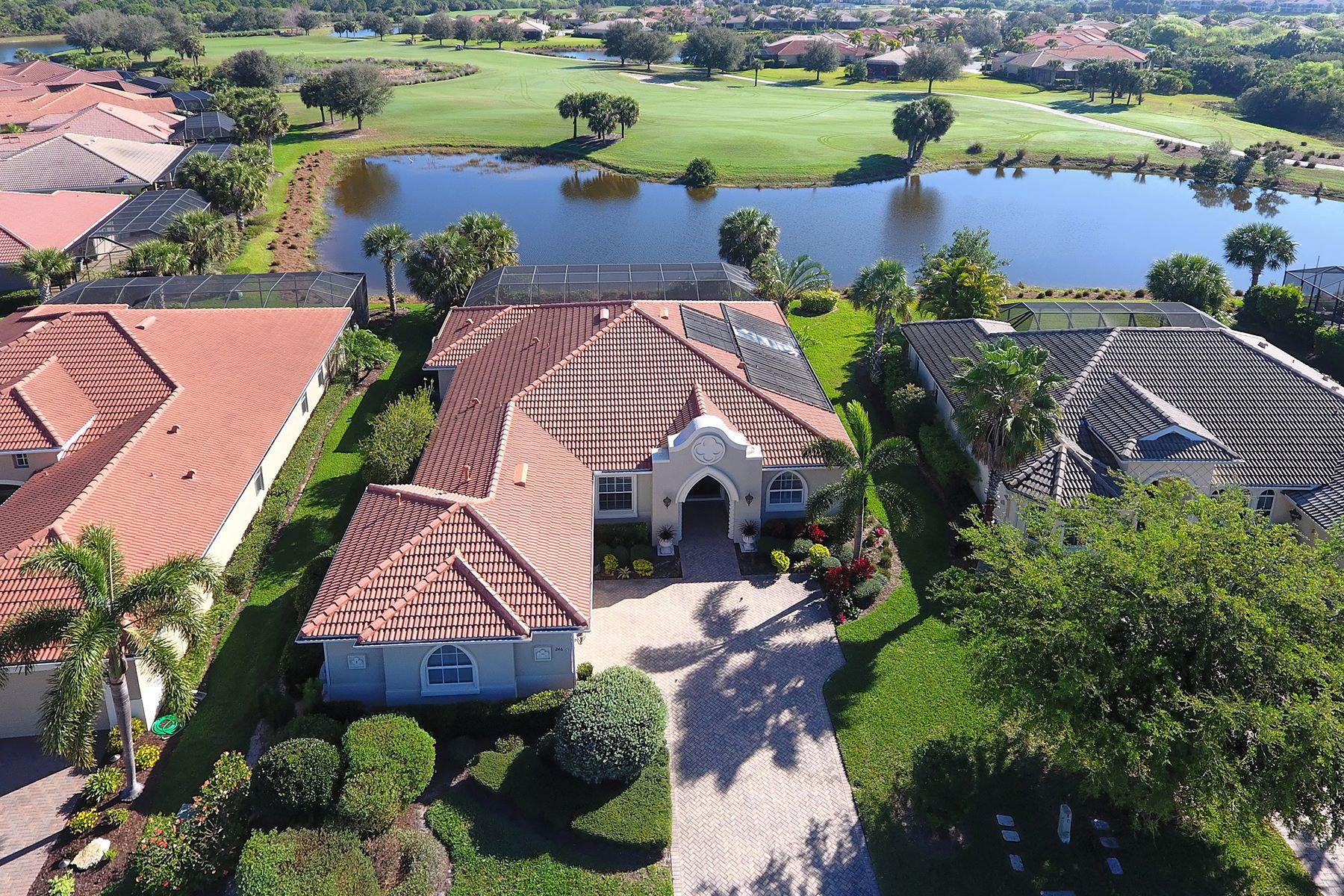 Casa para uma família para Venda às VENETIAN GOLF & RIVER CLUB 246 Martellago Dr North Venice, Florida, 34275 Estados Unidos