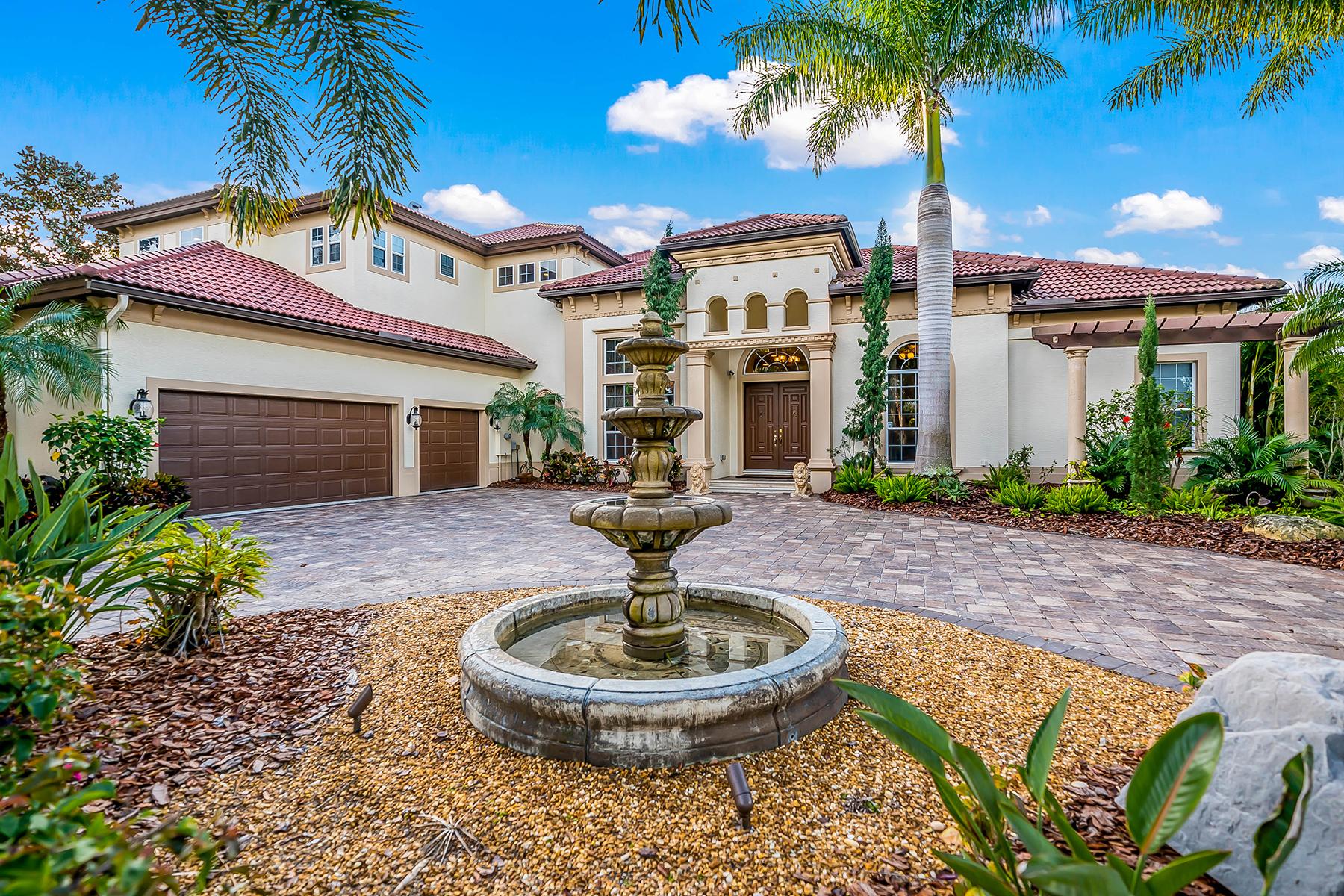 独户住宅 为 销售 在 SARASOTA 5340 Hunt Club Way, 萨拉索塔, 佛罗里达州, 34238 美国