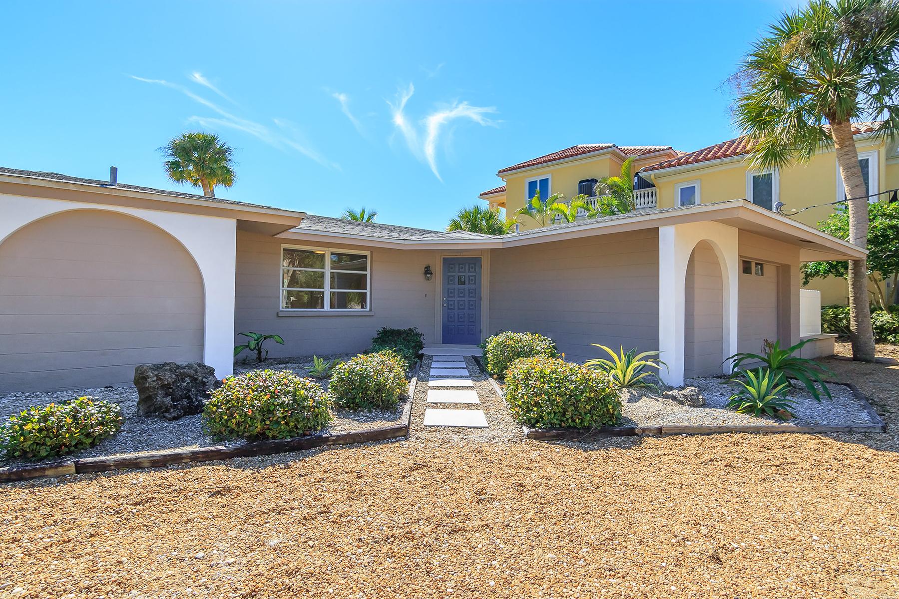 Частный односемейный дом для того Продажа на CASEY KEY 906 Casey Cove Dr Nokomis, Флорида, 34275 Соединенные Штаты