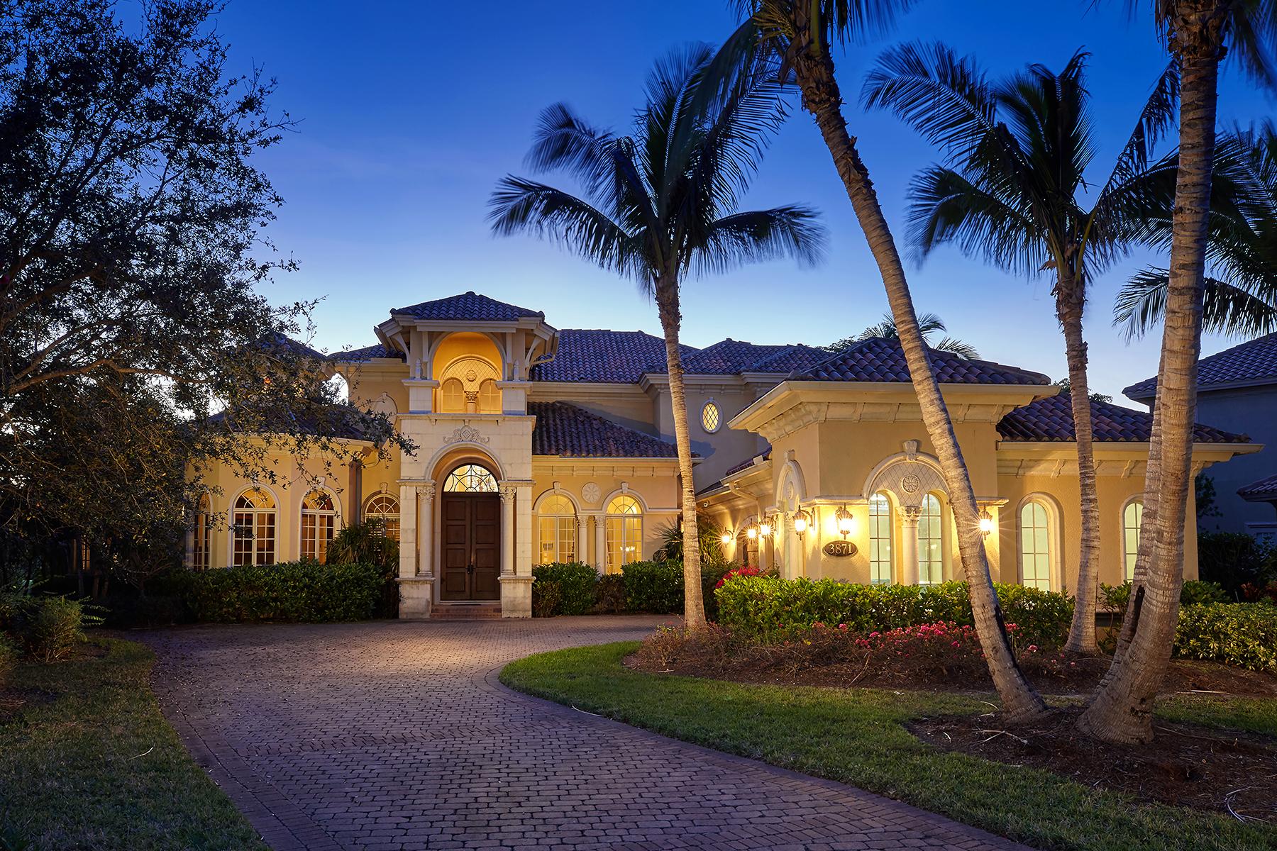Частный односемейный дом для того Продажа на FIDDLERS CREEK 3871 Isla Del Sol Way, Naples, Флорида, 34114 Соединенные Штаты