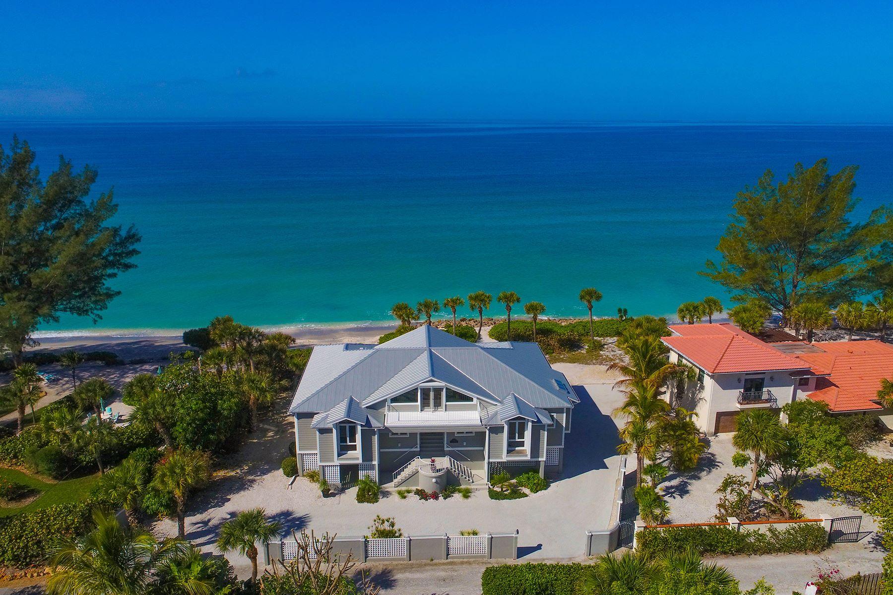 Casa para uma família para Venda às CASEY KEY 1027 N Casey Key Rd Osprey, Florida, 34229 Estados Unidos
