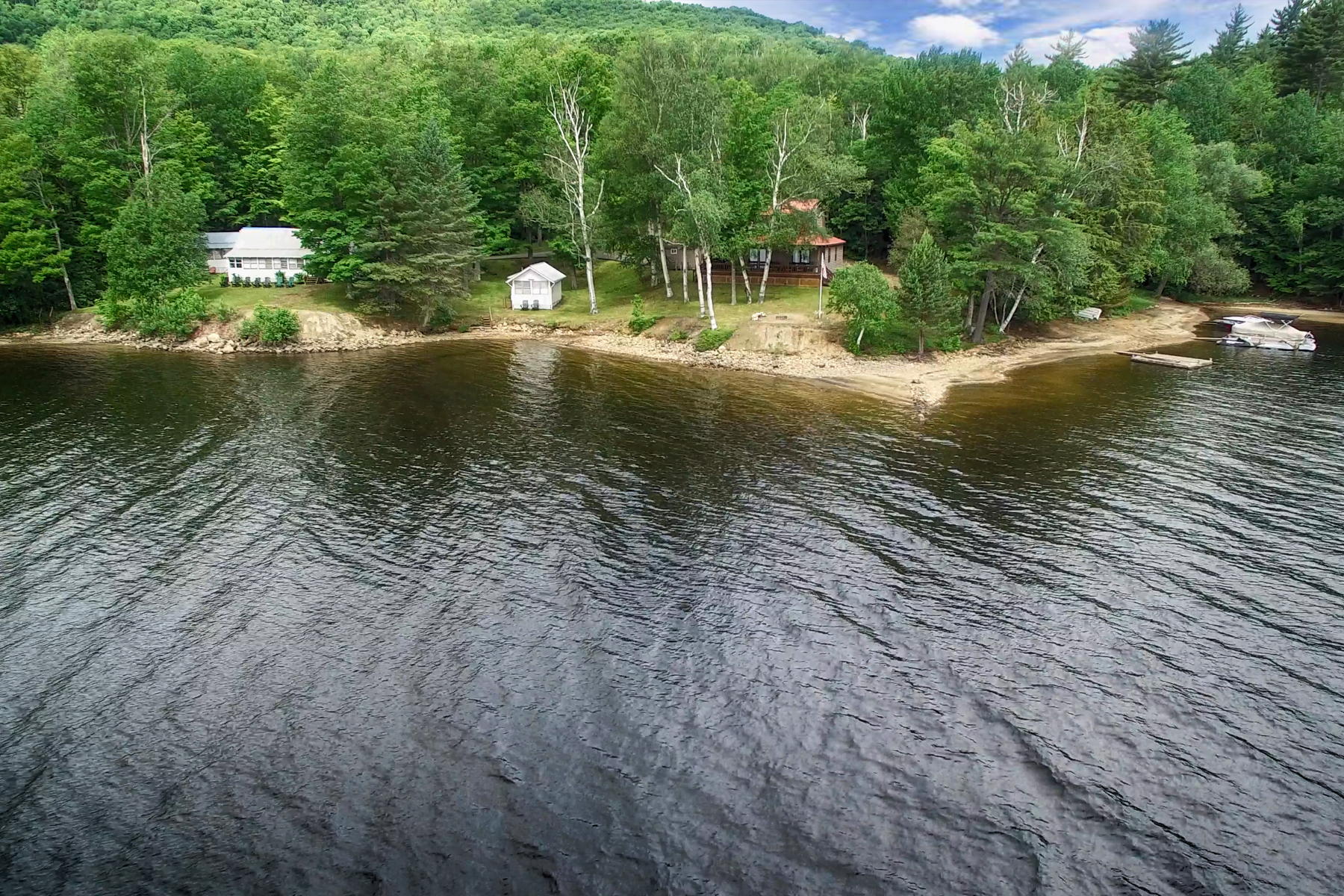 Single Family Home for Sale at Sandy Beach on Indian Lake 5486 Nys Rte.30 Indian Lake, New York 12842 United States