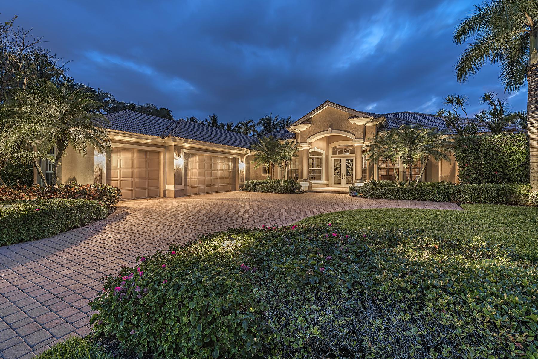 Частный односемейный дом для того Продажа на PELICAN MARSH - MUIRFIELD AT THE MARSH 8755 Muirfield Dr Naples, Флорида, 34109 Соединенные Штаты