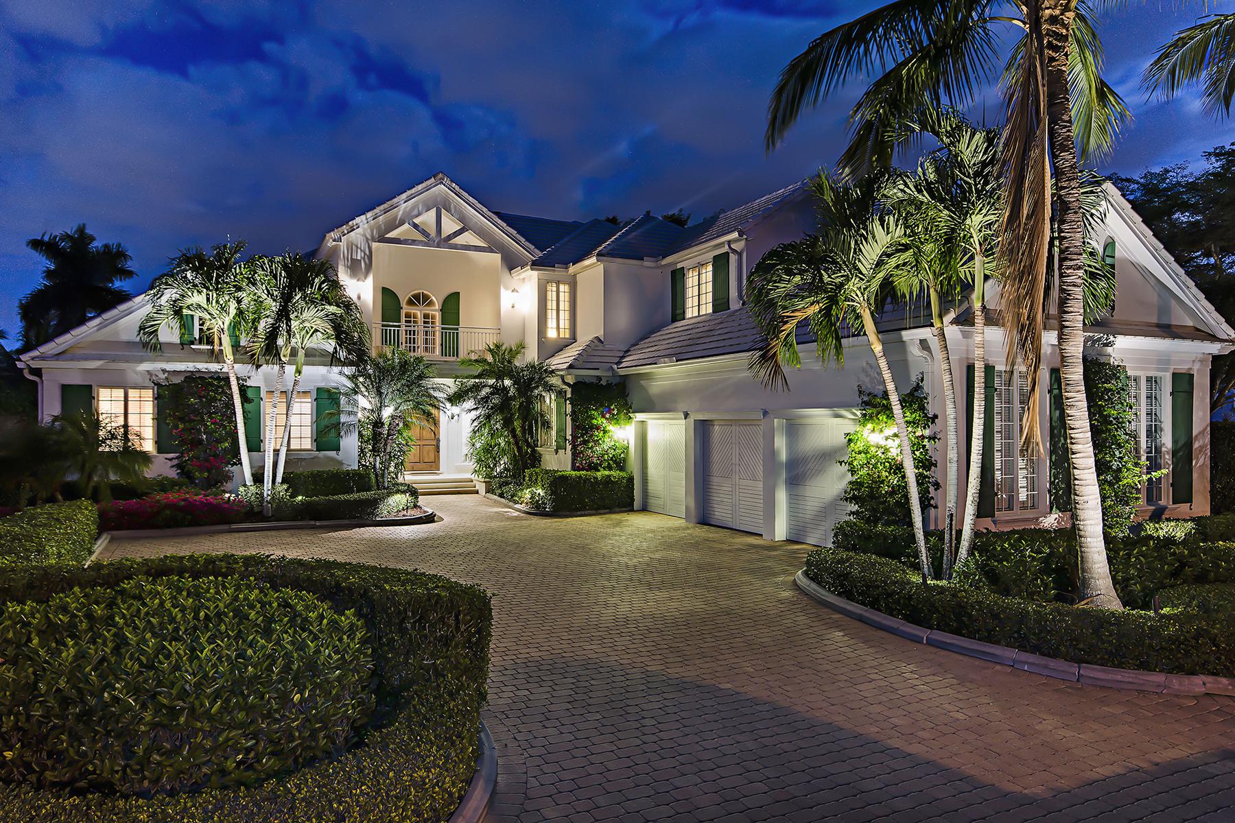 Casa para uma família para Venda às PORT ROYAL 1099 Spyglass Ln Port Royal, Naples, Florida, 34102 Estados Unidos