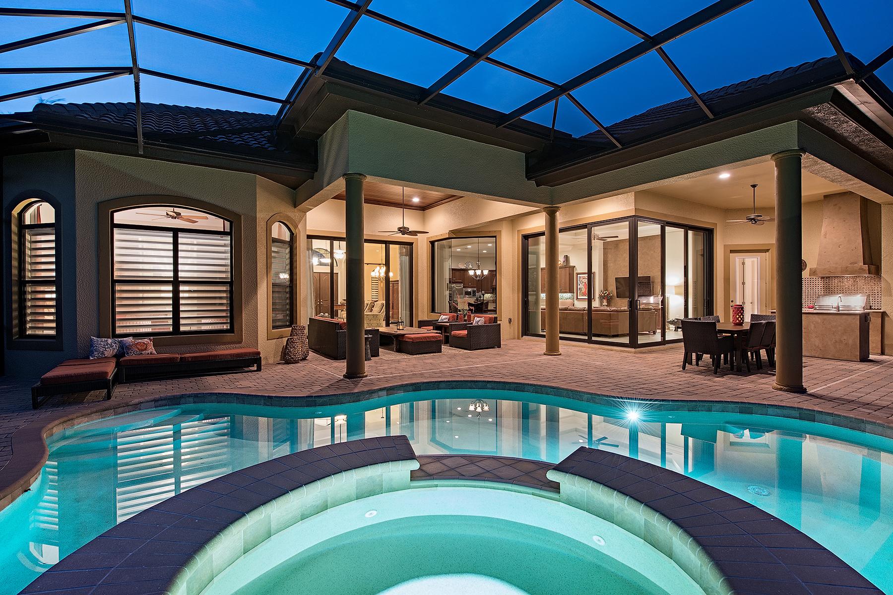 獨棟家庭住宅 為 出售 在 LELY COUNTRY CLUB 6514 Carema Ln Naples, 佛羅里達州, 34113 美國