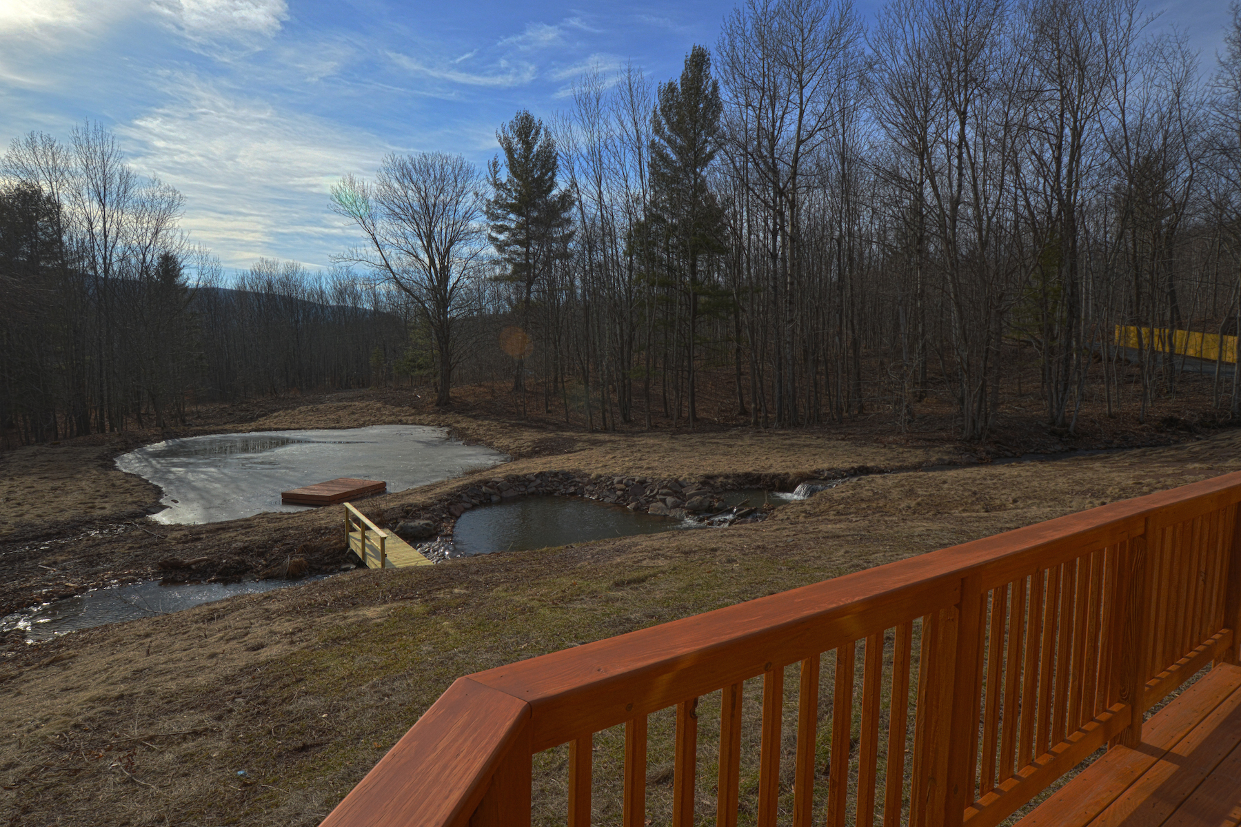 Additional photo for property listing at Restored Contemporary with Stream and Pond 683  Tumbleweed Ranch Rd West Kill, New York 12492 United States