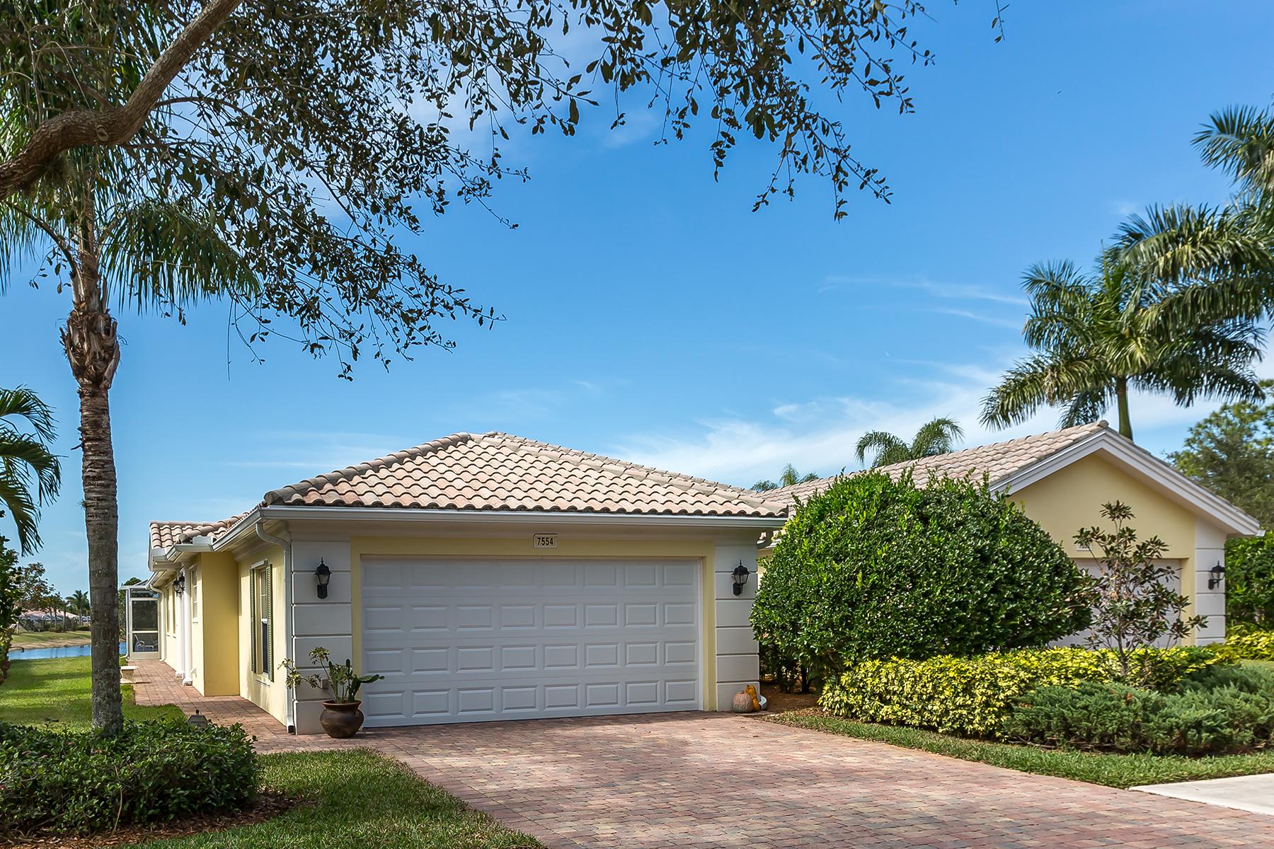 дуплекс для того Продажа на VERONA WALK 7554 Rozzini Ln Naples, Флорида, 34114 Соединенные Штаты