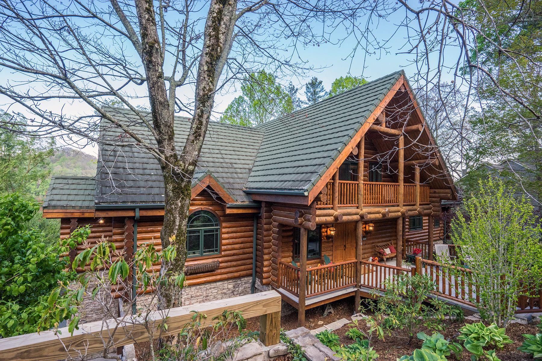 Частный односемейный дом для того Продажа на BLOWING ROCK - MISTY MOUNTAIN 116 Old Hickory Ln, Blowing Rock, Северная Каролина, 28605 Соединенные Штаты