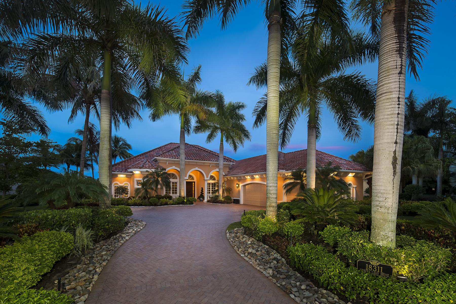 Частный односемейный дом для того Продажа на MIROMAR LAKES BEACH AND GOLF CLUB - VERONA LAGO 18311 Verona Lago Dr Miromar Lakes, Флорида, 33913 Соединенные Штаты