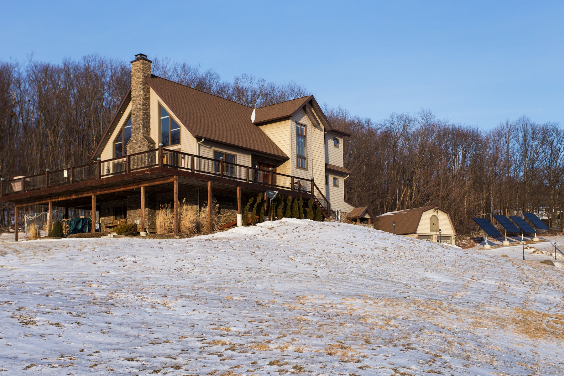 Additional photo for property listing at Breathtaking Home With View of Surrounding Hilltop 163  Pope Hill Rd Argyle, New York 12809 United States
