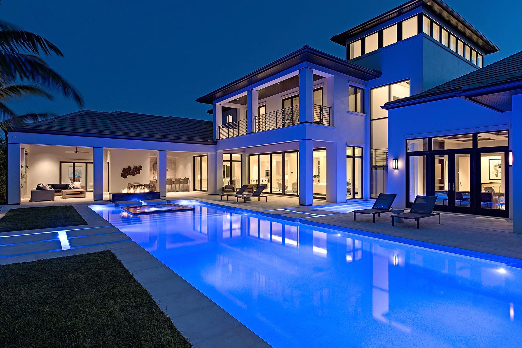 واحد منزل الأسرة للـ Sale في 1234 Gordon River Trl , Naples, FL 34105 1234 Gordon River Trl, Naples, Florida 34105 United States