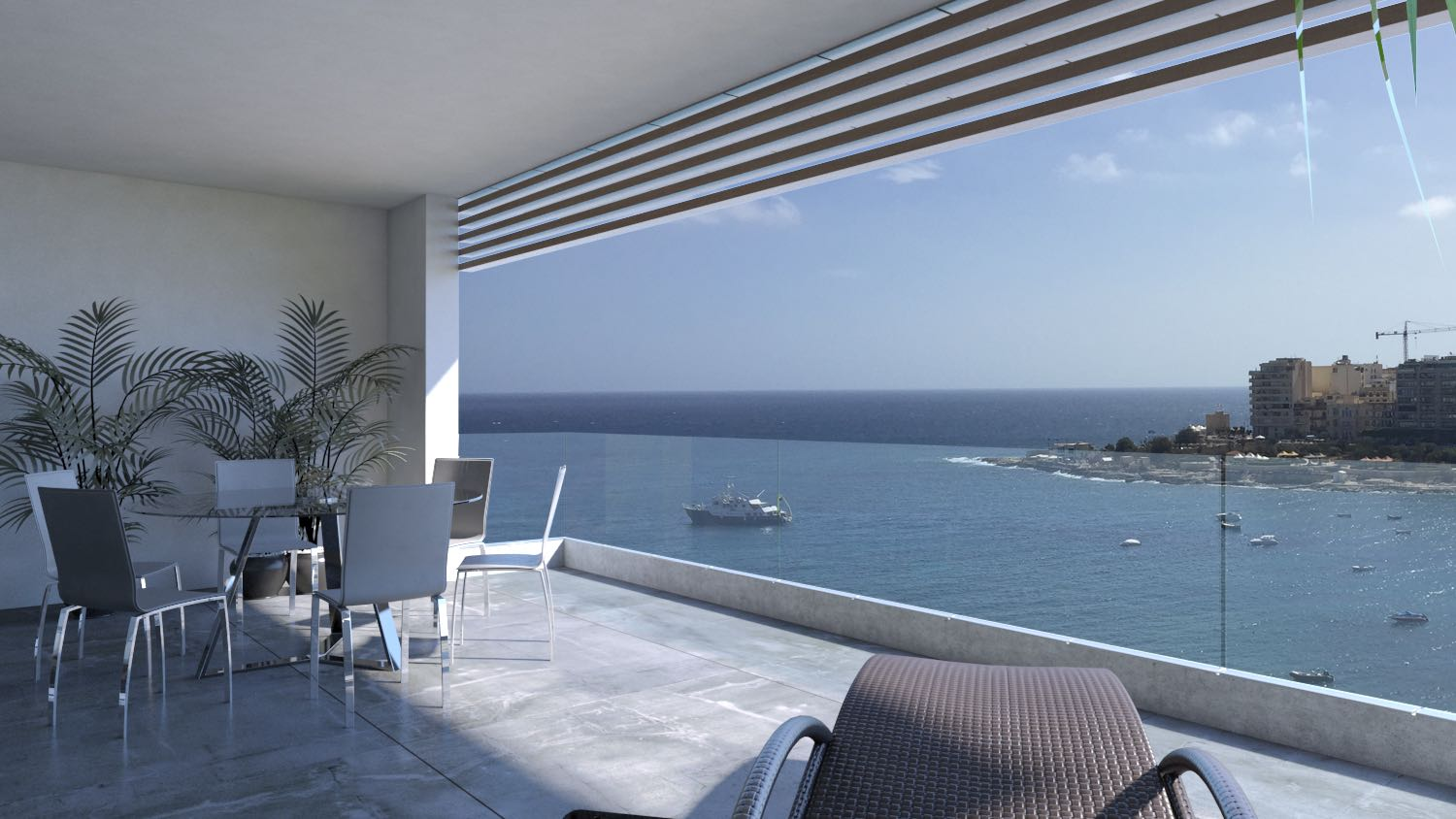 Apartment for Sale at Seafront Apartment St. Julian's, Malta