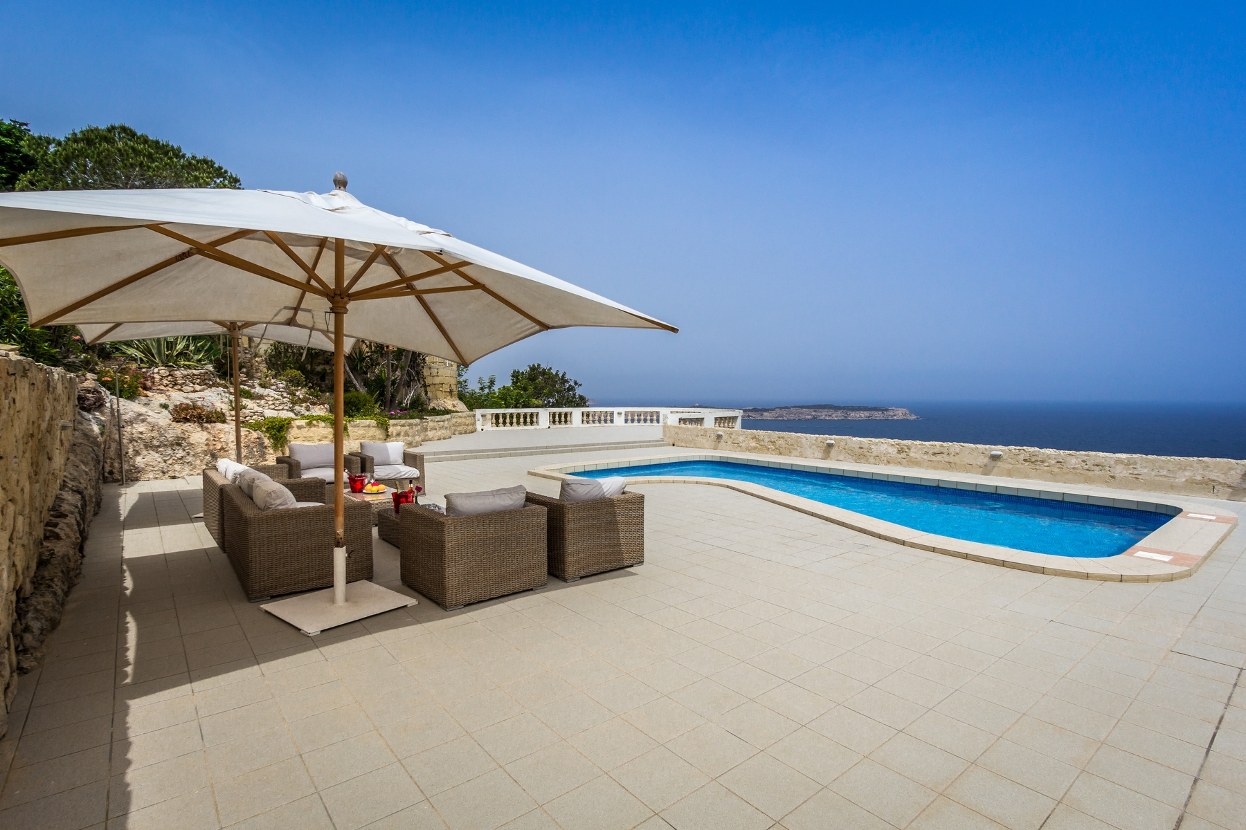 Single Family Home for Rent at Seafront Detached Villa Mellieha, Malta