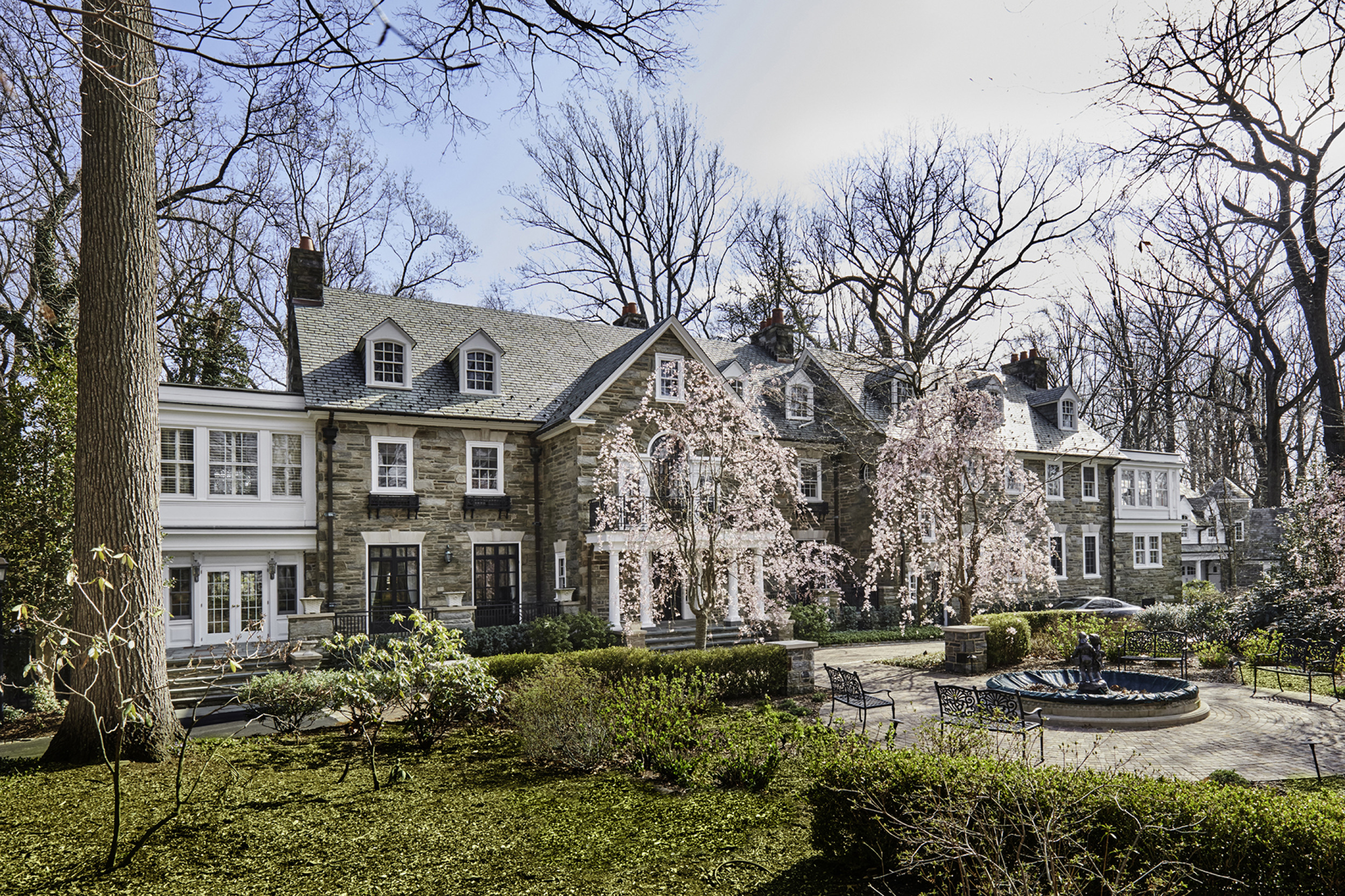 Single Family Home for Sale at Stately Stone Mansion 489 UPPER GULPH RD Radnor, Pennsylvania 19087 United States