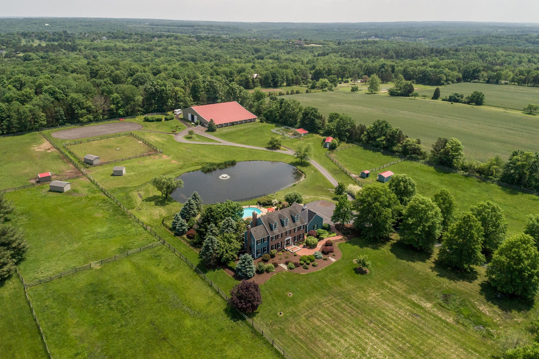 Single Family Homes for Sale at Hill & Dale Farm 553 GEIGEL HILL RD, Ottsville, Pennsylvania 18942 United States