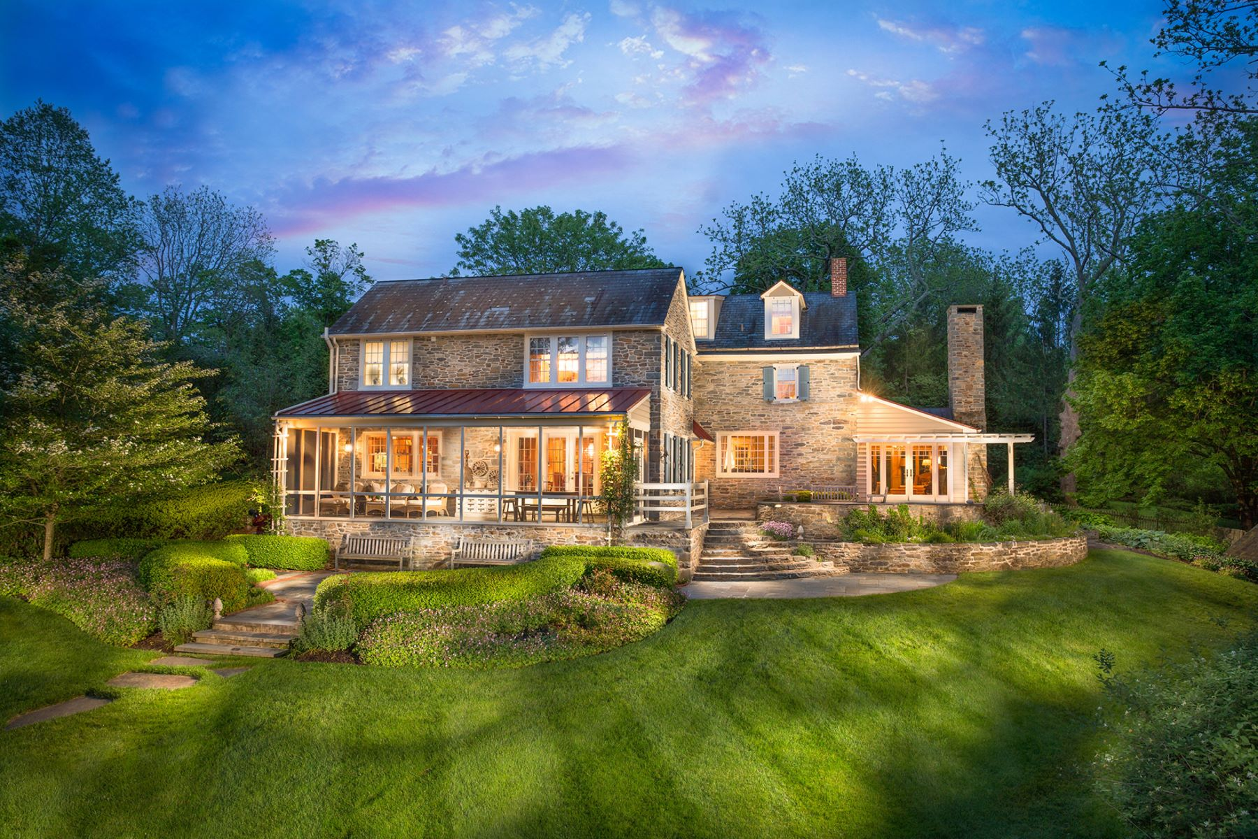 Single Family Home for Sale at Merestone Farm: A Waterfront Estate 2500 THREE MILE RUN RD Perkasie, 18944 United States