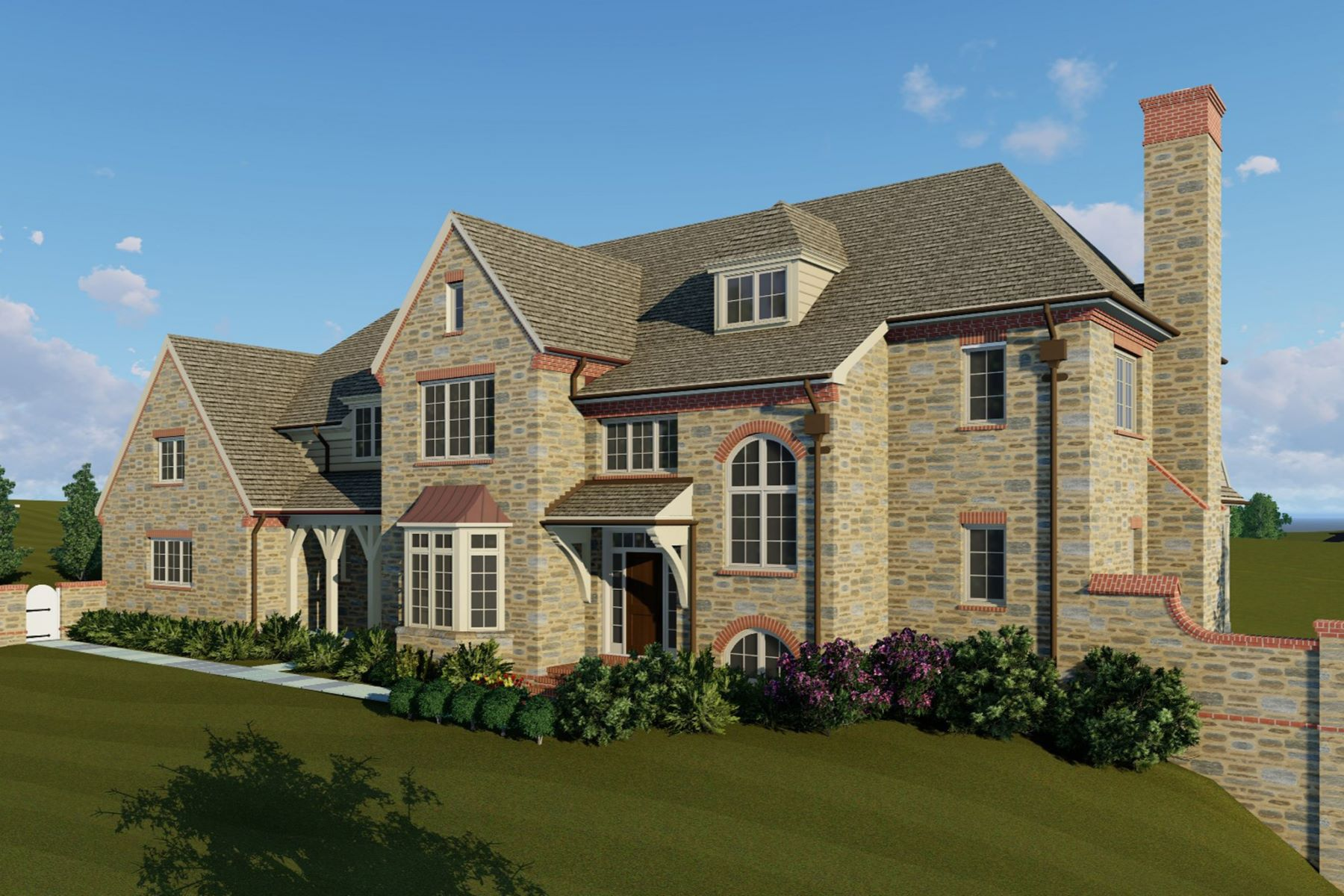 Single Family Home for Sale at New Construction 443 BARCLAY RD, Bryn Mawr, Pennsylvania 19010 United States