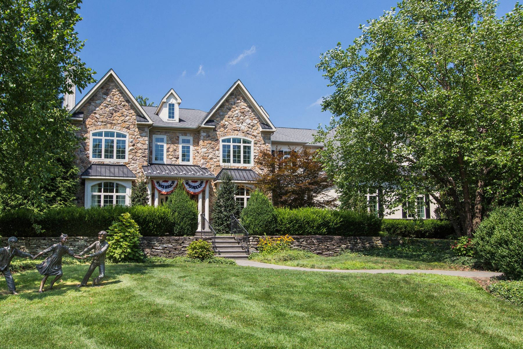 Single Family Home for Sale at Elegant French Country Residence 5945 STONEY HILL RD, New Hope, Pennsylvania, 18938 United States