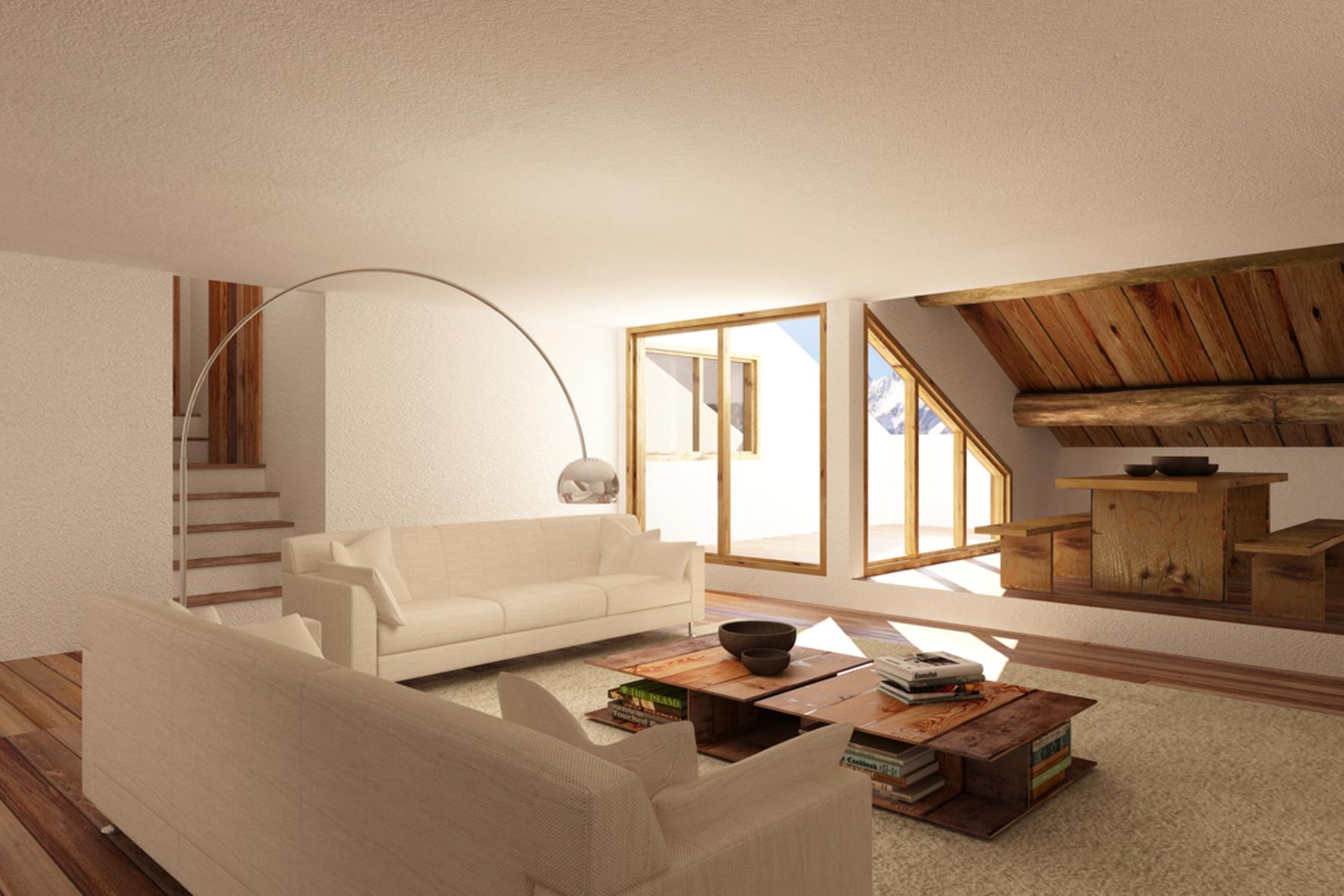 Additional photo for property listing at Spring offer 5.5 room duplex flat in a typical Engadine House La Punt-Chamues-ch Autres Switzerland, Autres Régions De La Suisse 7522 Suisse