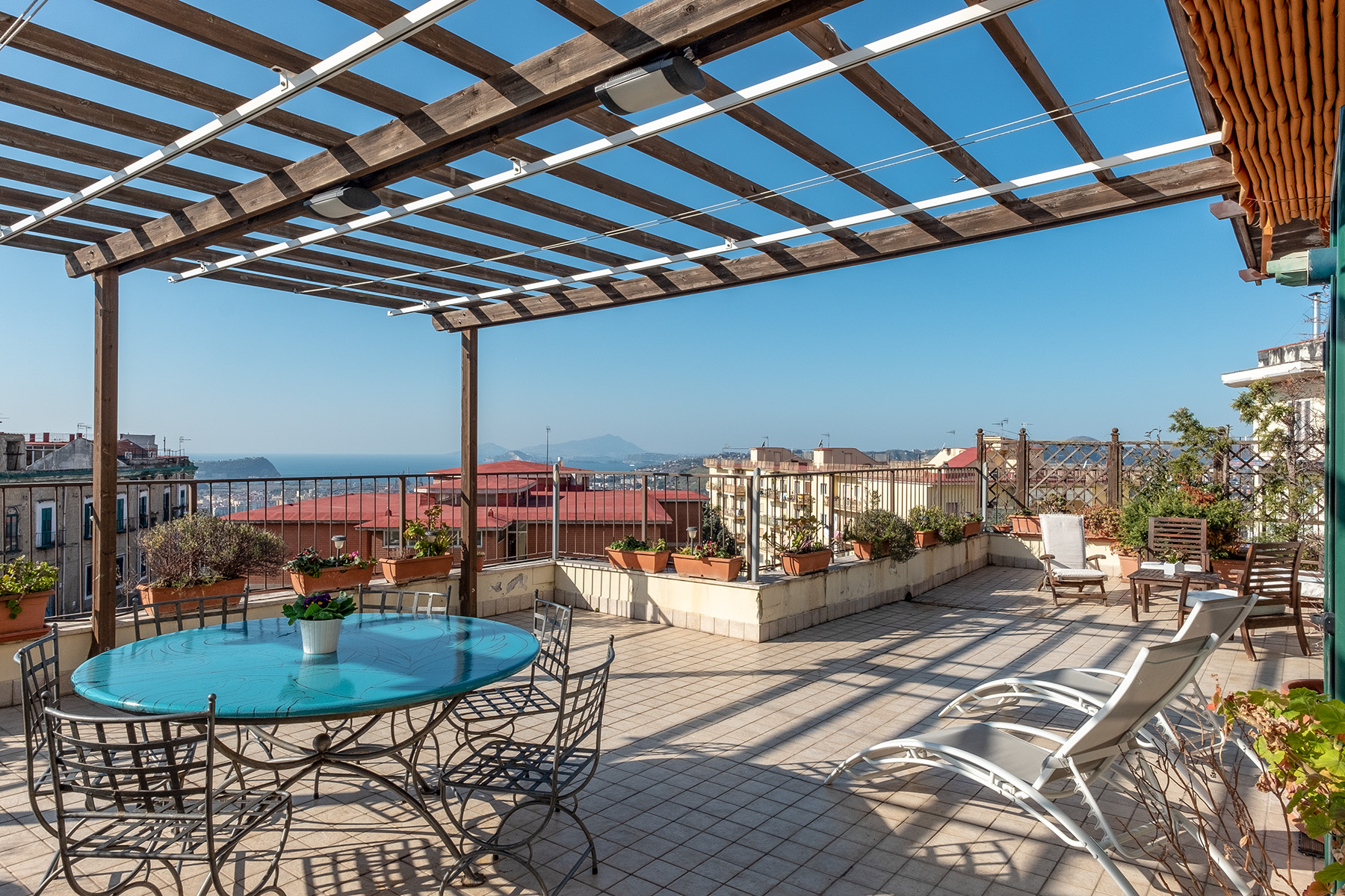 Apartments for Sale at Renovated penthouse with floor terrace and seaview Napoli, Naples Italy