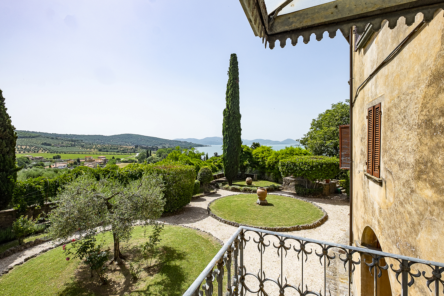 Other Residential Homes for Sale at Frescoed villa with a breathtaking view on Lake Trasimeno Magione, Perugia Italy
