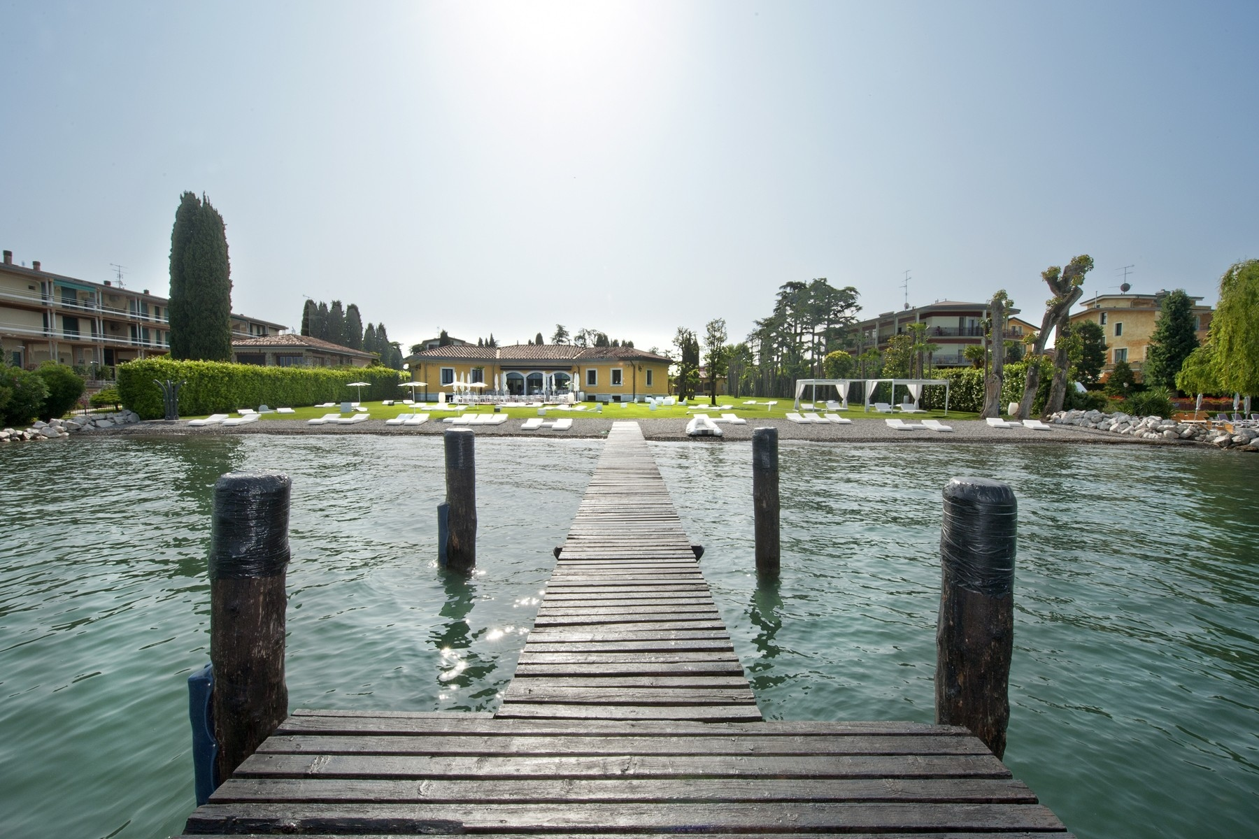 Other Residential Homes for Sale at One of a kind Pieds dans l'eau villa with beach and dock in Sirmione Sirmione, Brescia Italy