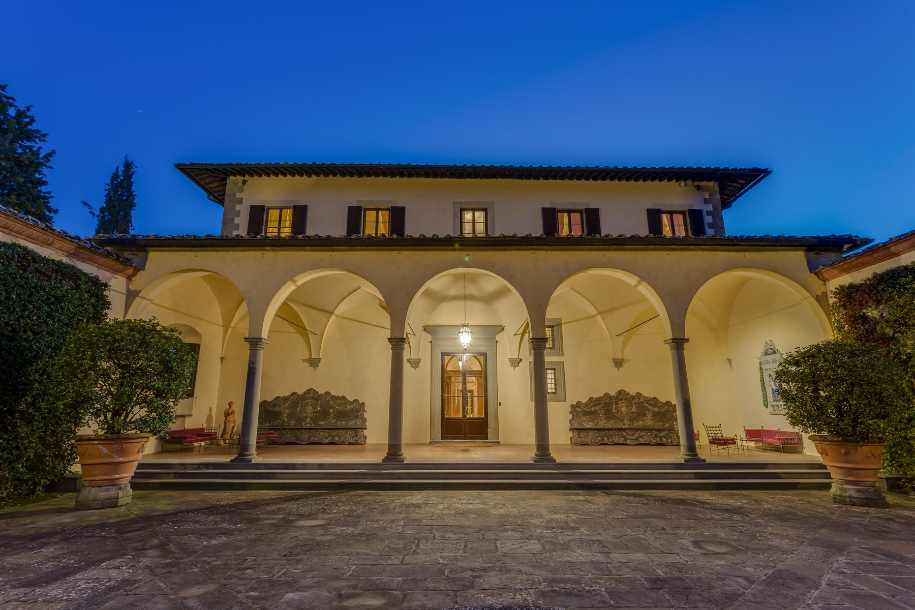 Other Residential Homes для того Аренда на Marvellous Renaissance Villa with pool on the hills of Florence Impruneta, Флоре́нция Италия