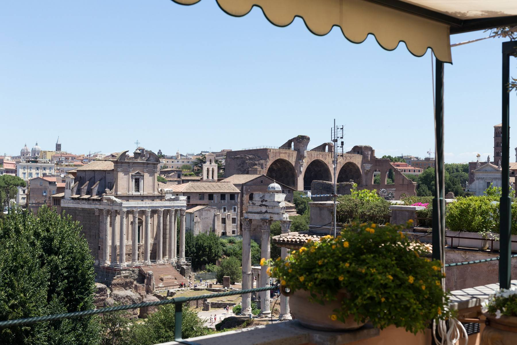 Apartments 为 出租 在 Amazing penthouse immersed in ancient Rome 罗马, 罗马 意大利