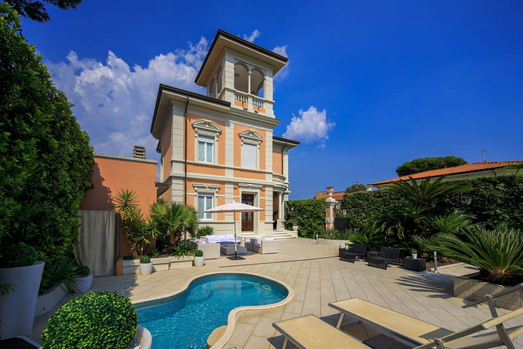 Other Residential Homes for Sale at Seafront Villa with tower in Forte dei Marmi Forte Dei Marmi, Lucca Italy