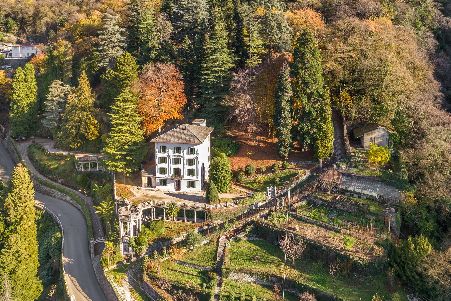 Other Residential Homes for Sale at Distinguished panoramic villa of the XIX century Faggeto Lario, Como Italy