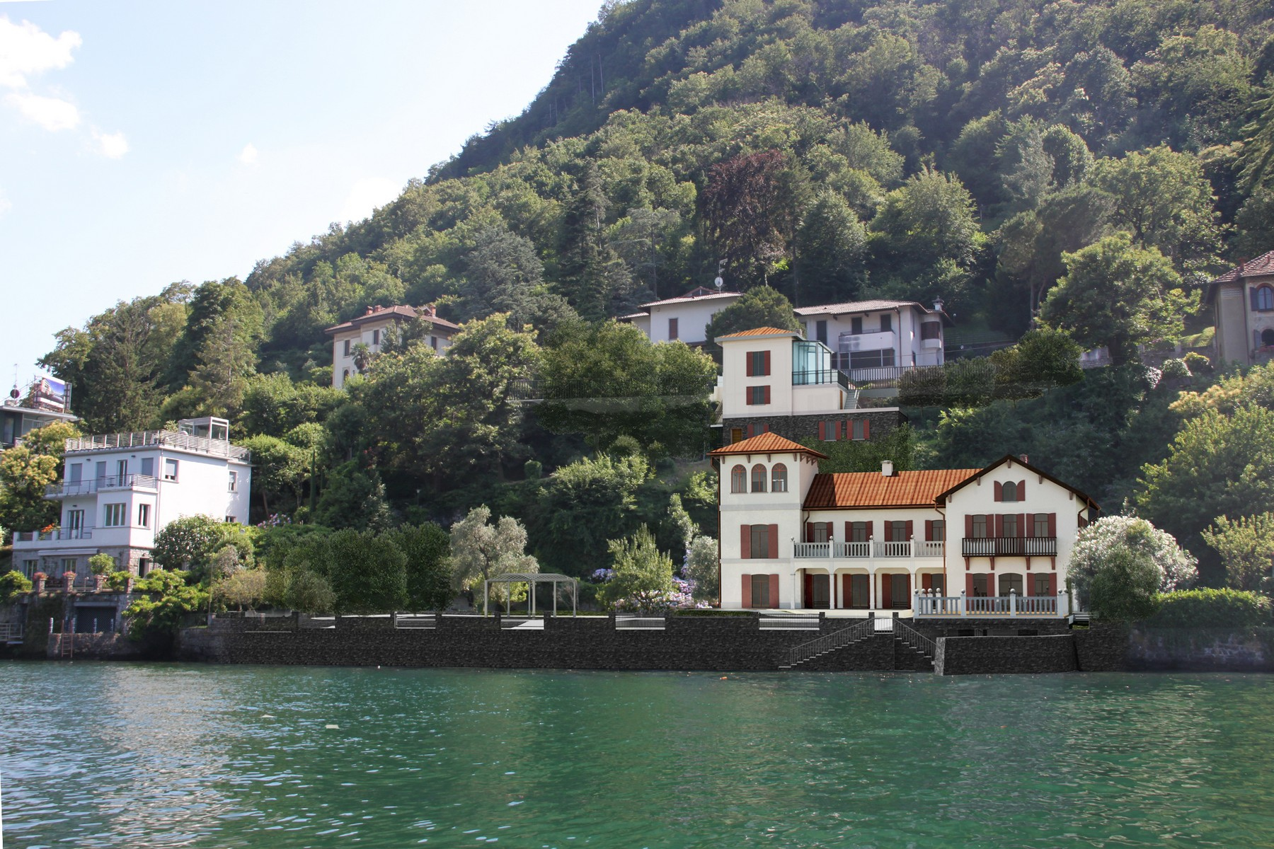 Property for Sale at Incredible pieds dans l'eau property with development project Laglio, Como Italy