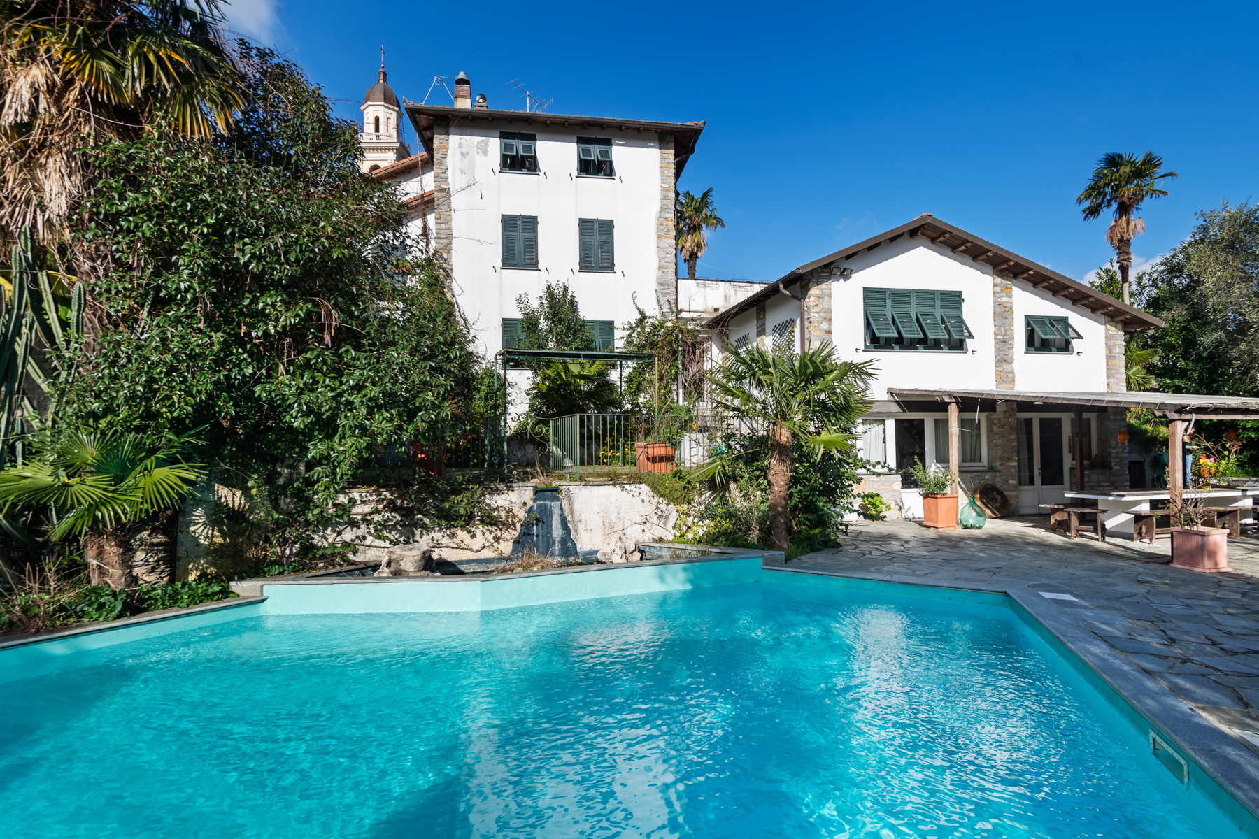 Other Residential Homes for Sale at Villa with swimming pool on the hill of Rapallo Rapallo, Genoa Italy