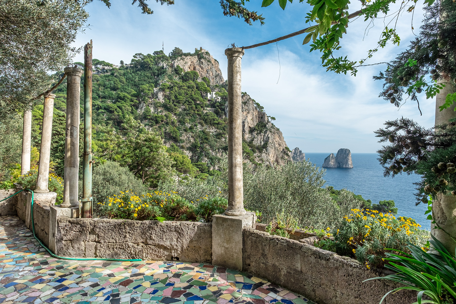 Other Residential Homes for Sale at Historic villa with a breathtaking panorama on the Faraglioni rocks Capri, Naples Italy