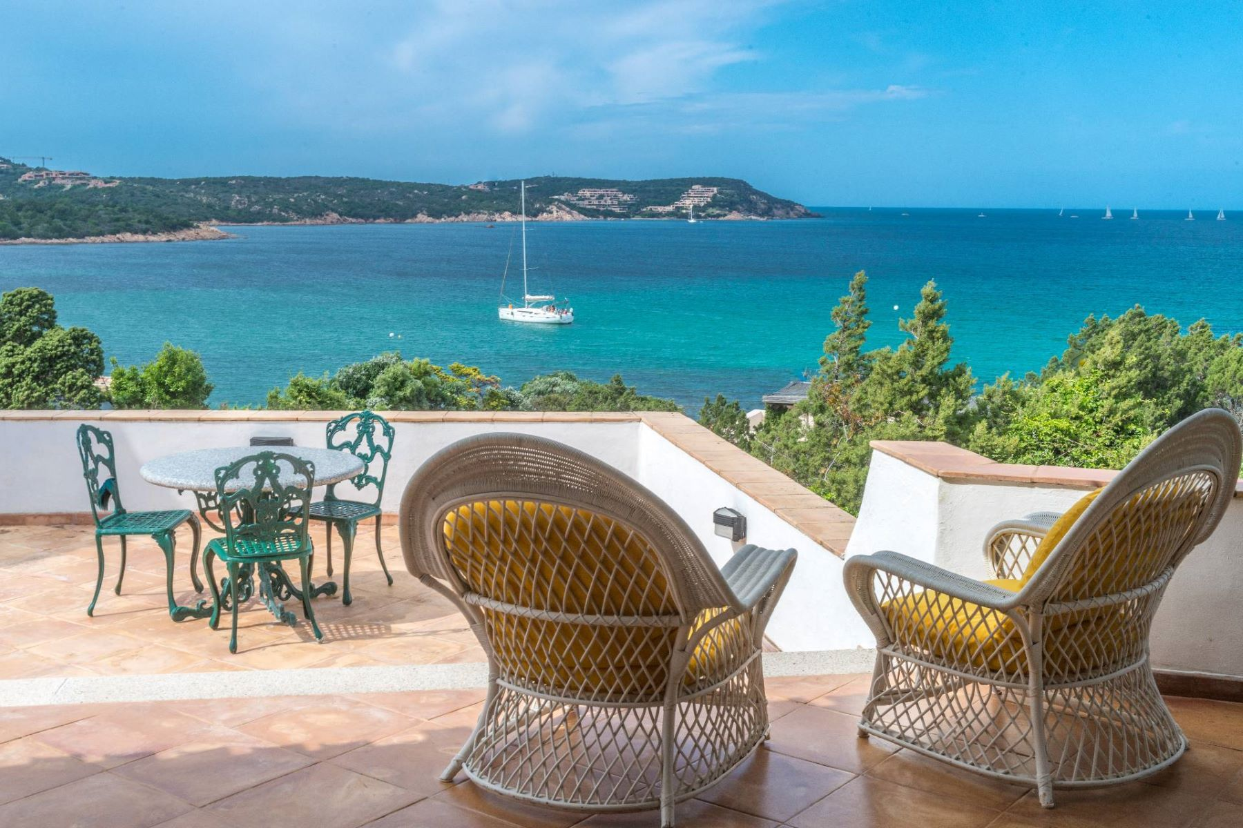Other Residential Homes for Sale at Porto Cervo, Pevero Villa with panoramic view on the Pevero Bay Porto Cervo, Sassari Italy