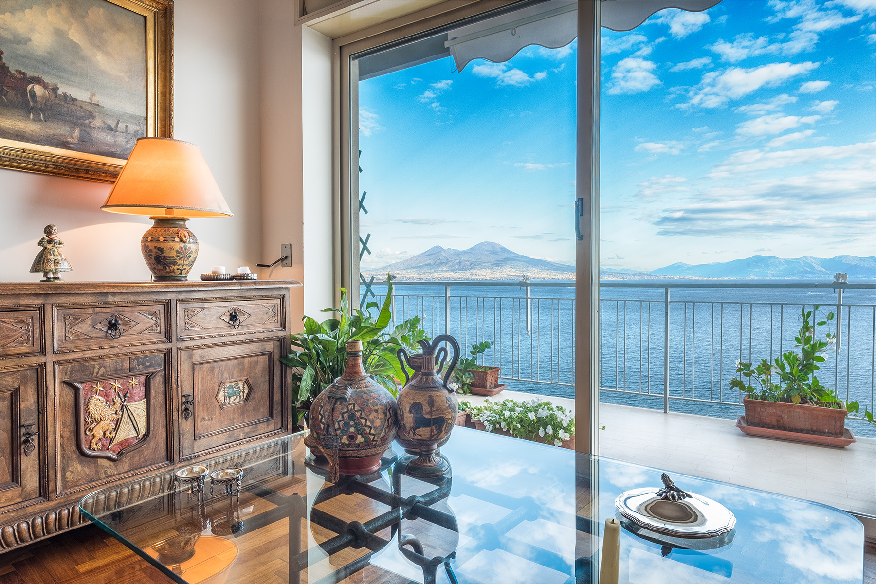 Apartment for Sale at Elegant top floor dominating the gulf of Naples Napoli, Naples, Italy
