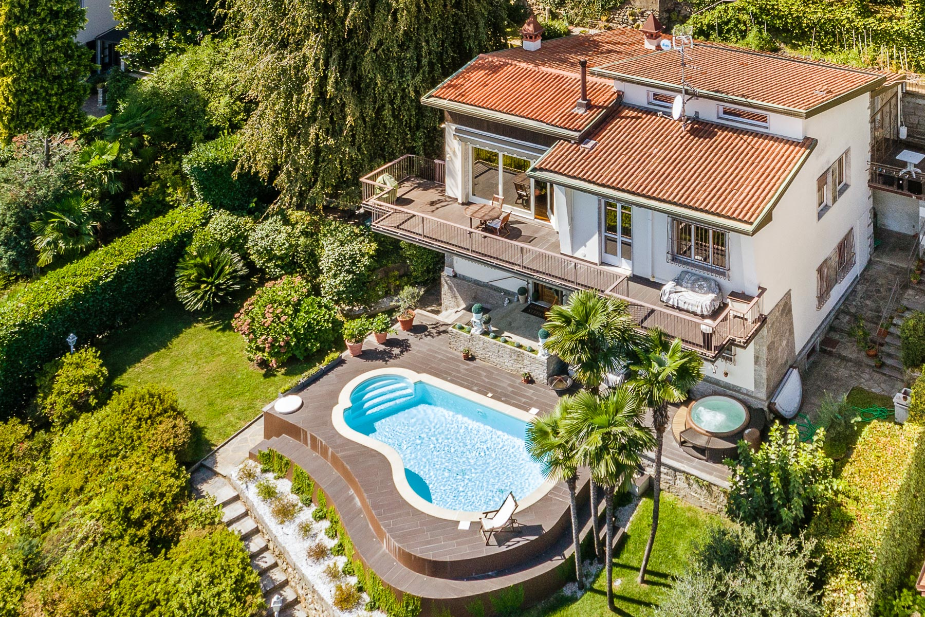 Other Residential Homes for Sale at Beautiful lake front villa with swimming pool Lesa, Novara Italy