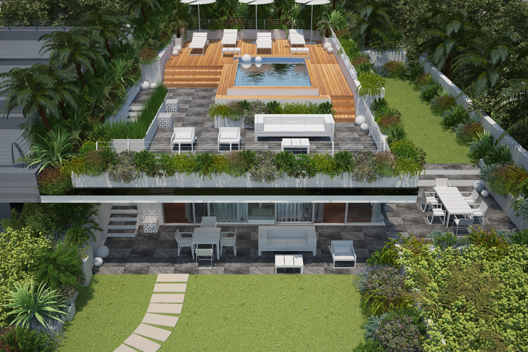 Other Residential Homes for Sale at Semi-detached villa with total lake view, roof garden and swimming pool Padenghe sul Garda, Brescia Italy