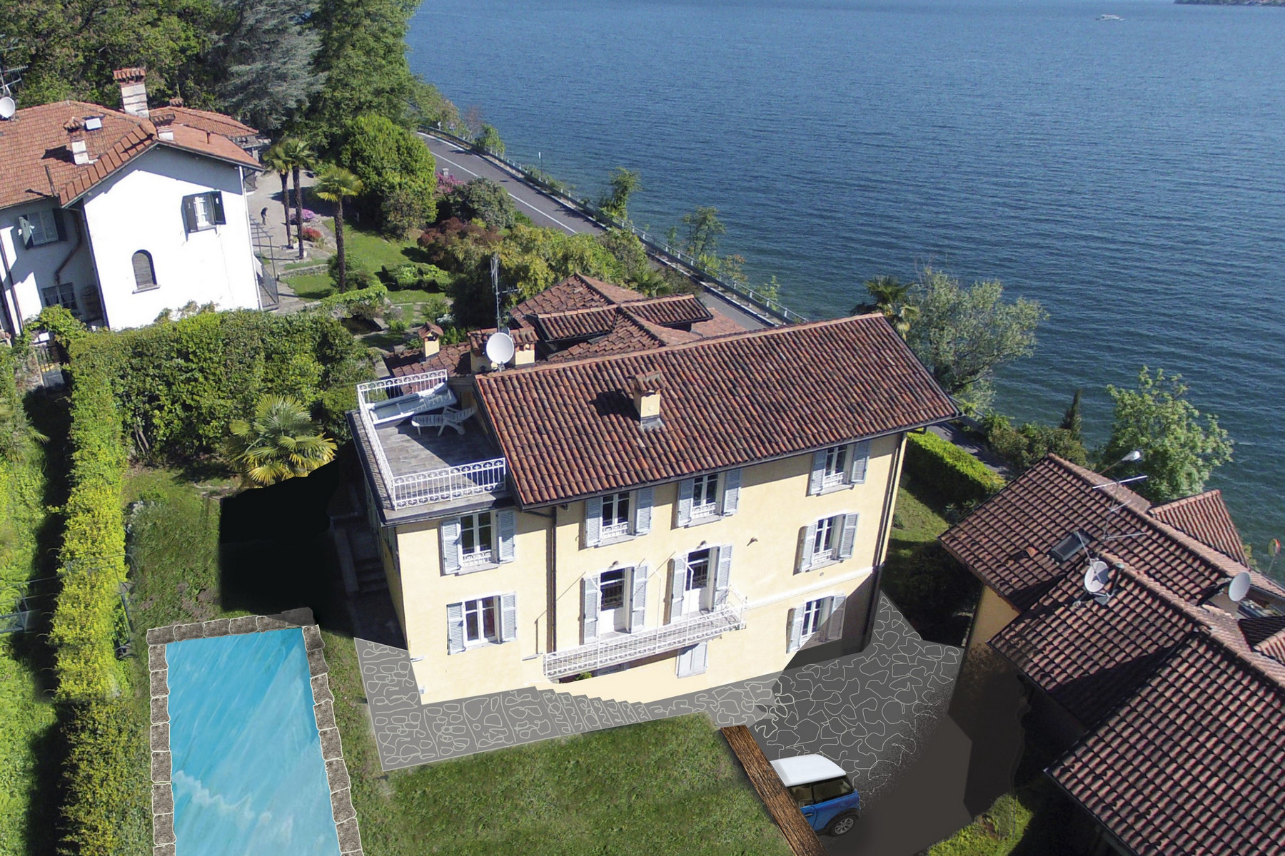 Other Residential Homes for Sale at Front Lake beautiful villa with garden Stresa, Verbano Cusio Ossola Italy