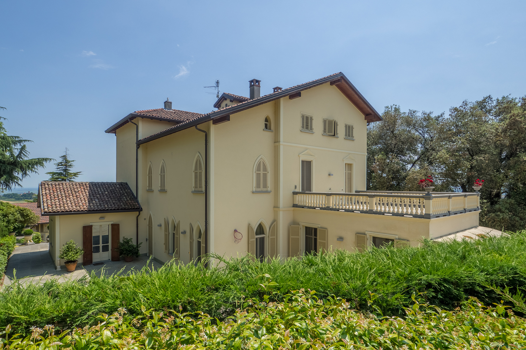 Other Residential Homes for Sale at Majestic Liberty villa perched in one of Italy's most picturesque villages Cella Monte, Alessandria Italy