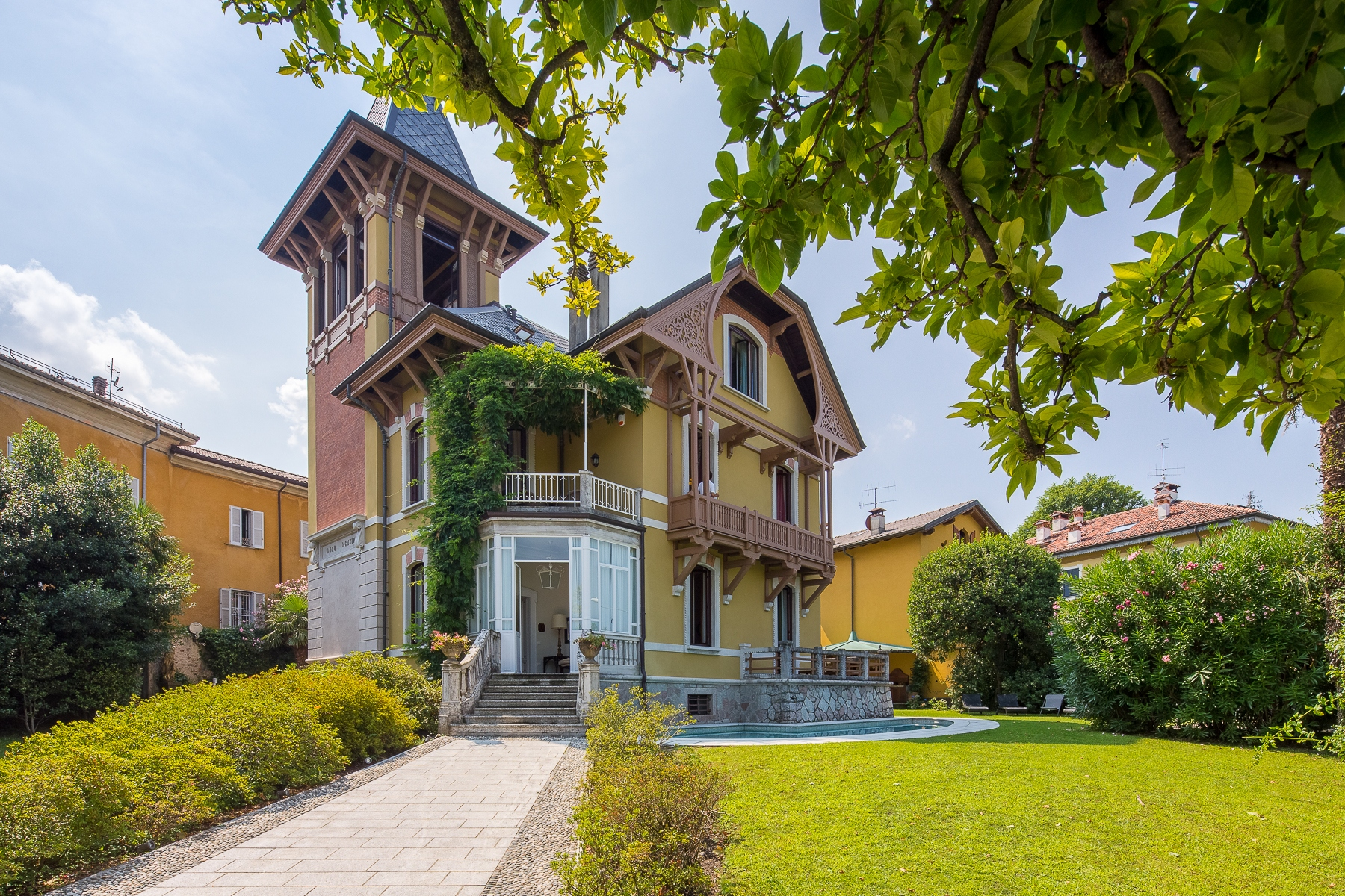 Other Residential Homes for Sale at Liberty villa on the shores of Lake Maggiore Porto Valtravaglia, Varese Italy