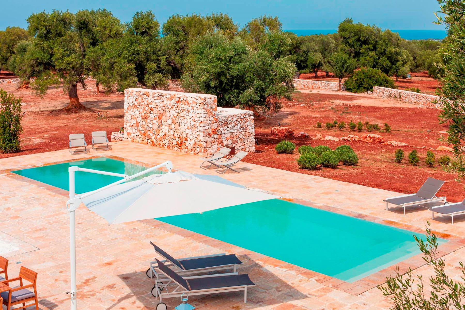 Другая жилая недвижимость для того Продажа на Newly built sea view villa with swimming pool Carovigno, Brindisi, Италия