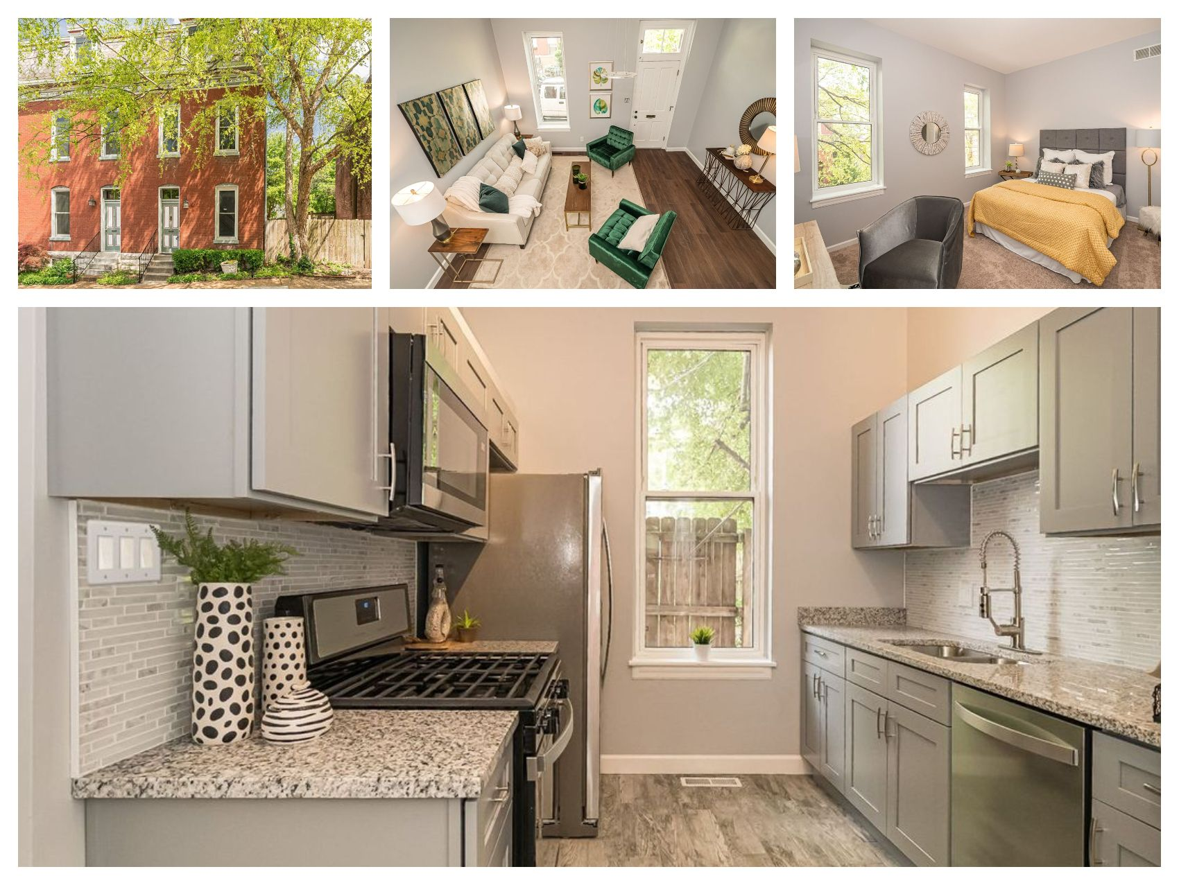 Single Family Homes for Sale at Beautifully Renovated 2 1/2 Story in Historic Lafayette Square 1214 Missouri Avenue St. Louis, Missouri 63104 United States