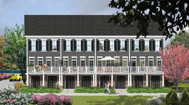 townhouses для того Продажа на Luxury Townhome Living Along The Delaware 7 River Mills Drive, Frenchtown, Нью-Джерси 08825 Соединенные Штаты