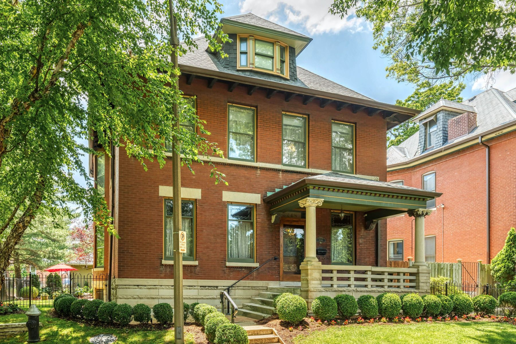 Single Family Homes for Sale at Historic Home on Millionaire's Row 3248 Copelin Ave. St. Louis, Missouri 63104 United States