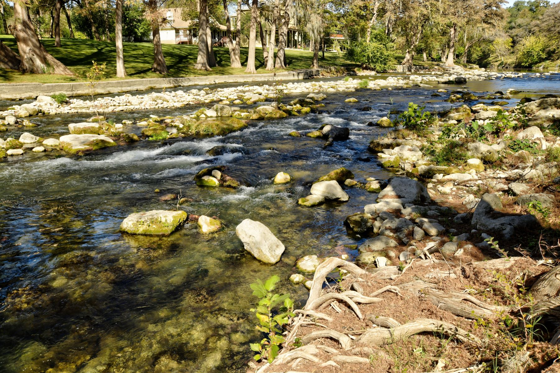 Land for Sale at 100-/+ feet of Riverfront Rapids in Historic Gruene 1055 Gruene Road New Braunfels, Texas 78130 United States